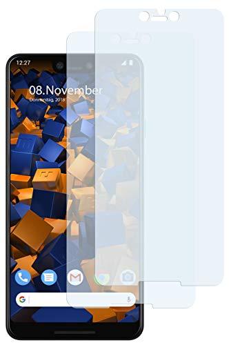 mumbi Schutzfolie kompatibel mit Google Pixel 3 XL Folie klar, Bildschirmschutzfolie (2X)