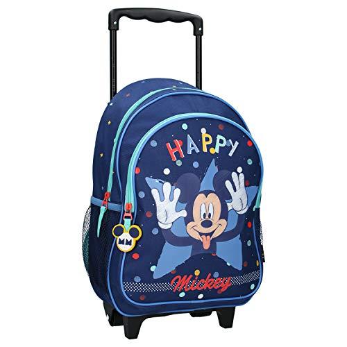 Disney Mickey Mouse Trolley Kinderrucksack - Happy - Blau