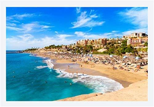 Puzzle Für Erwachsene 1000 Teile Sommerurlaub Am Strand Von EL Duque In Teneriffa Berühmten Küste Von Adeje Auf Der Kanarischen Insel Spanien Für Freund Kinder Familien Geburtstagsgeschenk