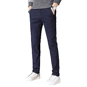 Ra&Do チノパン メンズ チノパンツ ストレッチ スリム ストレート ロングパンツ カジュアル ファッション ビジネス 美脚 細身 通気 長ズボン R210 (34, ネイビー)