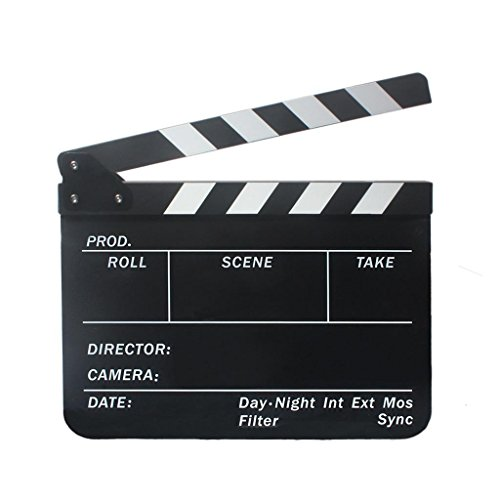 Homyl Claqueta Cine Profesional de 300 x 245 x 3 mm Fácil...
