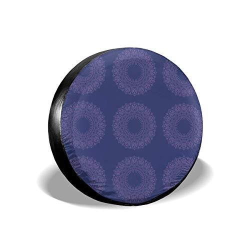 Rose - Cubiertas para neumáticos de repuesto, impermeables, a prueba de polvo, para ruedas de repuesto, ajuste universal para remolques, caravanas, SUV, camiones y muchos vehículos de 15 pulgadas