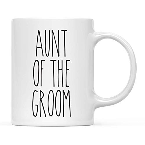 Jopath Taza de cerámica sencilla rústica para decoración de cocina de 325 ml, regalo de madre del novio, 1 paquete, ideal para regalo de agradecimiento de boda, AuntoftheGroom-