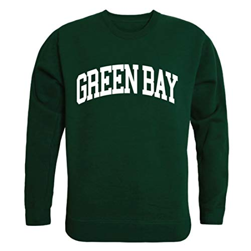 UWGB University of Wisconsin-Green Bay Phoenix Arch Crewneck Pullover Sweatshirt Sweater Forest X-Large