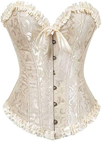 NJJX Underwear New item European And American Bridal Lace Belly Corsets Recommended