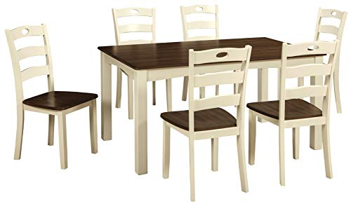 Signature Design by Ashley Woodanville Dining Room Table and Chairs (Set of 7)