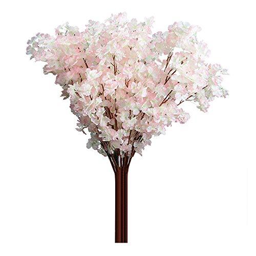 1pc 3ramas cerezo Artificial ramo de flores boda decoración para el hogar Amesii