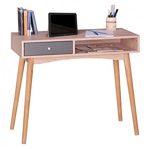 Eternity-Möbel Schreibtisch Bürotisch - Suna - Sekretär Computertisch Schublade Sonoma Eiche