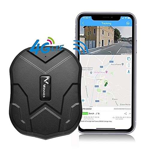 4G Localizador GPS para Coche, 5000mAh GPS Tracker Imán Magnético Alarma Geofence Antirrobo...