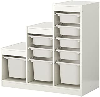 IKEA(イケア) TROFAST 99887302 収納コンビネーション, ホワイト, ホワイト