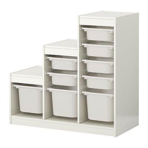 IKEA(イケア) TROFAST 99887302 収納コンビネーション, ホワイト, ホワイトの写真
