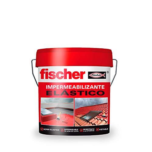 Fischer 547157 impermeabilizante elástico, Roja, 5 Kg