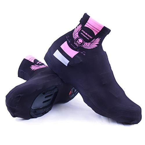 LBPF Cubiertas para zapatos de ciclismo con cremallera, resistentes al viento, impermeables, para ciclismo, para invierno, carretera y MTB para mujeres y hombres, XL