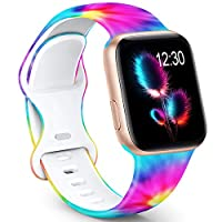 【Compatible Models】The Pattern bands Compatible for apple watch band 38mm 40mm 42mm 44mm iWatch SE, iWatch Series 6, iWatch Series 5, iWatch Series 4, iWatch Series 3, iWatch Series 2, iWatch Series 1, Sport, Edition, All Versions. 【Optional Size for...