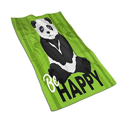 CIKYOWAY Toalla de Mano Triste Panda Bear Happy Bamboo Toalla de baño pequeña multipropósito para baño,Manos,Cara,Gimnasio y SPA súper Absorbente Ultra Suave 40x70cm