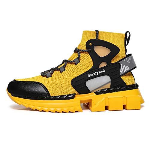 GSLMOLN Zapatos ocasionales del calzado de los hombres de la zapatilla de deporte de, (amarillo 2), 43 EU