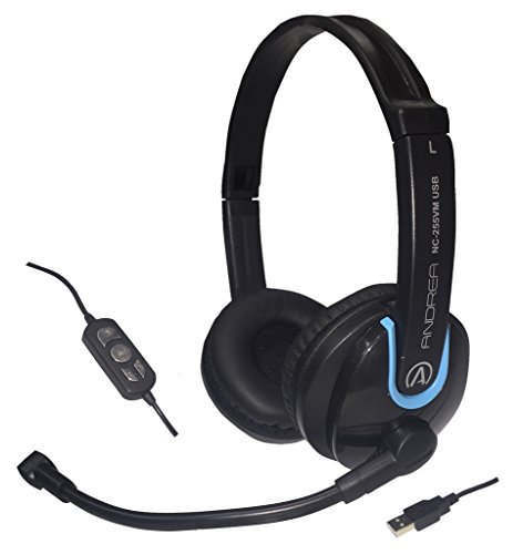Great Features Of Andrea Communications NC-255VM USB On-Ear Stereo USB Computer Headset with Noise-C...