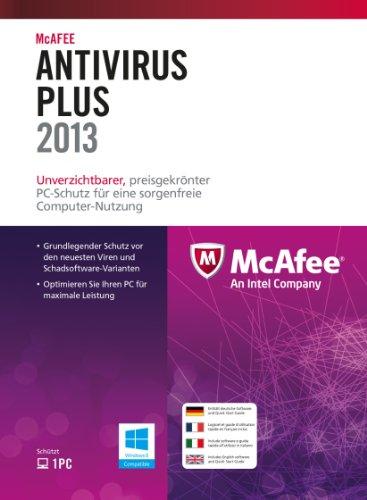 McAfee AntiVirus Plus 2013 - 1 User [import allemand]