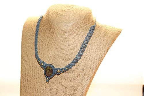 handmade jewellry Unakite fresh water pearl and jasper sterling silver necklace boho jewelry