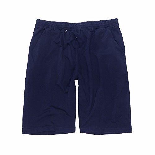 Kurze dunkelblaue Jogginghose von Big-Basics in Übergrösse bis 12XL, Größe:8XL