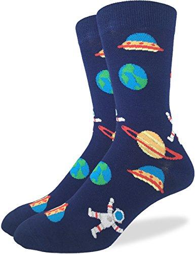 Good Luck Sock Men's Space Crew Socks 7-12