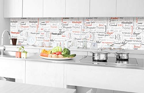 DIMEX LINE Film Autoadhesivo de Cocina Gracias 350 x 60 cm | Decoración de Cocina