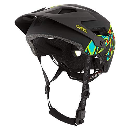 O'NEAL   Casco para Bicicleta de montaña   All-Mountain   Aperturas de ventilación para refrigeración, Norma de Seguridad EN1078   Casco Defender Muerta   Adultos   Negro   Talla XS/M