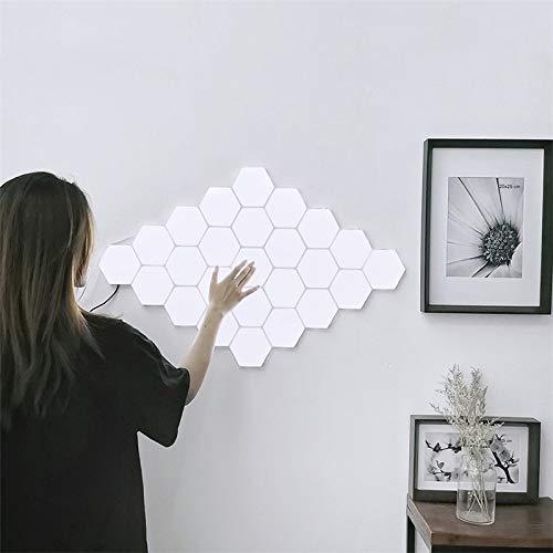 LED-Nachtlicht Modular-Noten-Licht-Noten-Induktions-Beleuchtung LED-Nachtlicht DIY Innendekoration Nachttischlampe Schlafzimmer Wandleuchte (Color : 30 PC With Adapter)