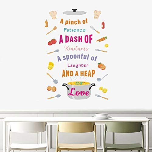 TOARTi Colorful Kitchen Quote Decal Positive Dining Cooking Wall Sticker for Kitchen Dining product image