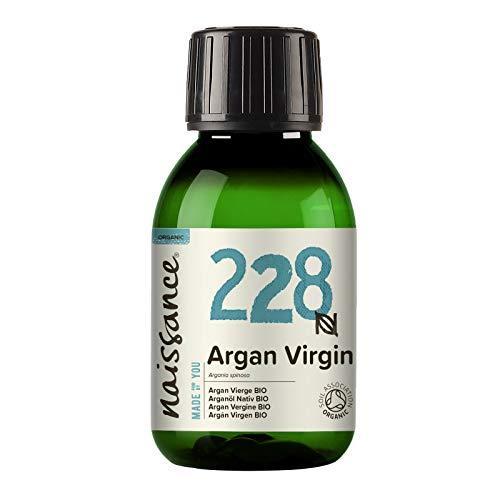 Naissance Aceite Vegetal de Argán de Marruecos BIO n. º 228-100ml - Puro, natural, vegano, certificado ecológico, sin hexano y no OGM - Hidratación natural para el cabello