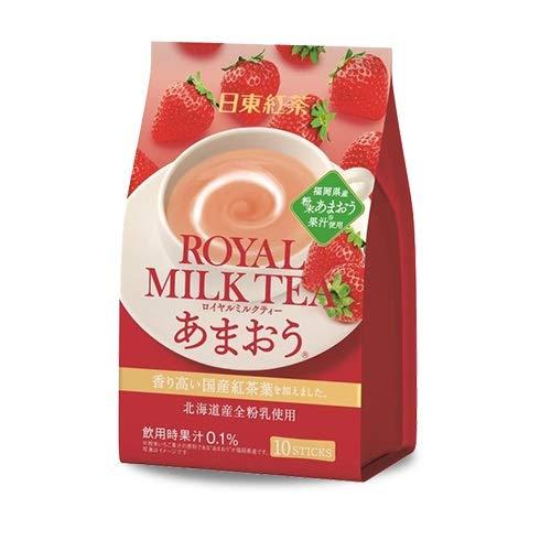 三井農林 日東紅茶 ロイヤルミルクティー あまおう 14g×10本入 (24個セット)