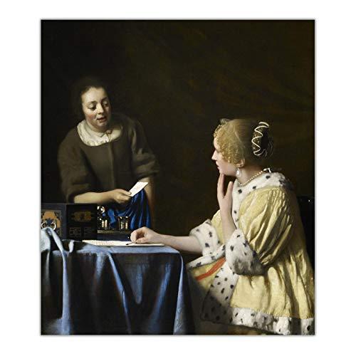 ZQXXX Johannes Vermeer 《Mistress and Maid》 lienzo pintur