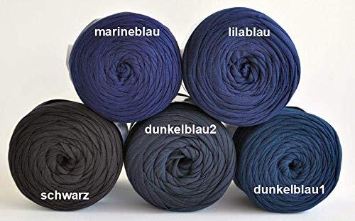 Textilgarn Baumwollegarn Stoffgarn schwarz, dunkelblau 650g, 120m für Taschen, Körbe, Utensilo, Teppiche (schwarz)