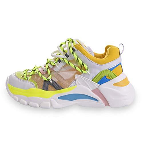 PHGo Zapatos Deporte Mujer Zapatillas Deportivas Correr Gimnasio Casual Zapatos para Caminar Running Transpirable Sneakers