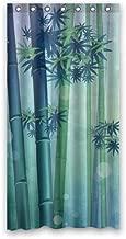 Sea Secret Fashion Green Bamboo Forest Shower Curtain 36
