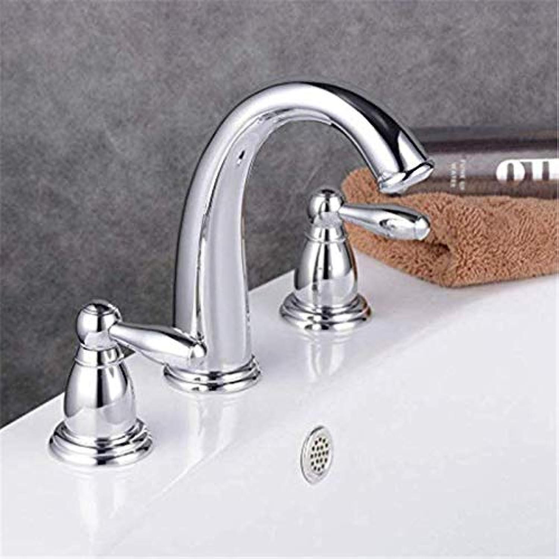 Atemberaubende zwei Hebel Waschtischmischer Wasserhahn 3-Loch-Doppel-Bad Mono-Wasserhahn