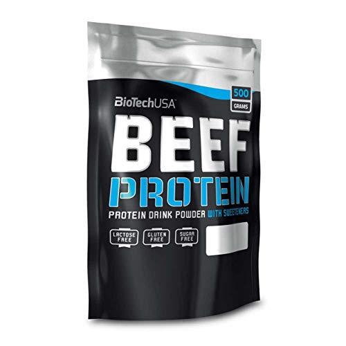 BioTechUSA Beef Protein Hydro Beef Proteínas de Carne de Vacuno, Sabor Vainilla y Canela - 500 gr