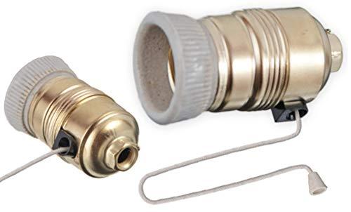 Portalámparas E27 con cordón interruptor de cuerda, interruptor de cuerda, portalámparas LED