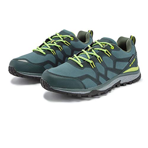 Hi-Tec Men's Stinger WP Walking Shoe, Jungle-MUSCHIO-Cactus, 10 UK