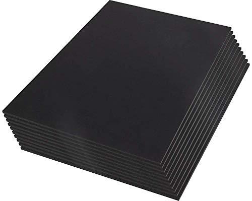 Cartón Pluma- 10 Unidades Tamaño A3 (42x29,7 cm) Espesor de 5 m/m (Negro)