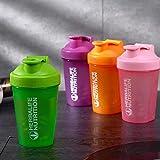Agitador portátil de gran capacidad, botella de agua, batido de jugo, proteína en polvo, taza para agitar, agitador para el hogar, taza para agitar con bola agitadora, color rojo