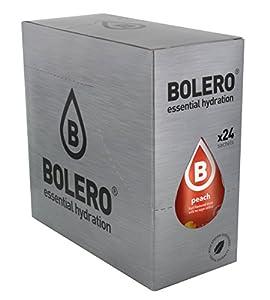 Bolero Bebida Instantánea sin Azúcar, Sabor Melocotón - Paquete de 24 x 9 gr - Total: 216 gr