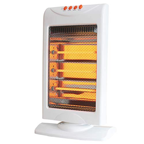 LTJX Calefactor Eléctrico Radiador Halógeno, 3 Potencias Radiador de Cuarzo Sistema Anti vuelco 1200W para Hogar y Oficina