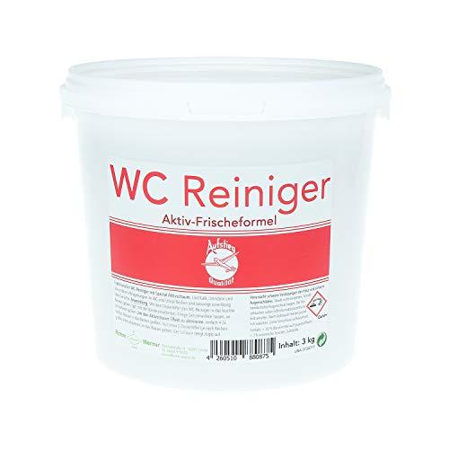 Rohm und Werner Qualitäts WC Reiniger Pulver 3 kg - Deutsches Qualitätsprodukt - Wirkformel mit Aktivschaum