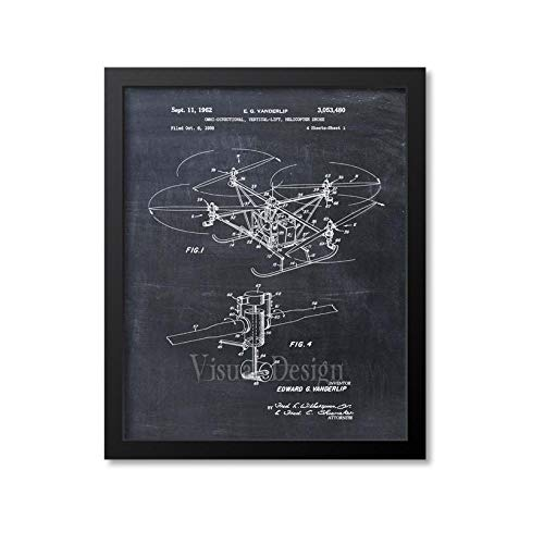 Drone Patent Print Drone Art Drone Gift Drone Decor Drone Poster Drone Wall Art Drone Print