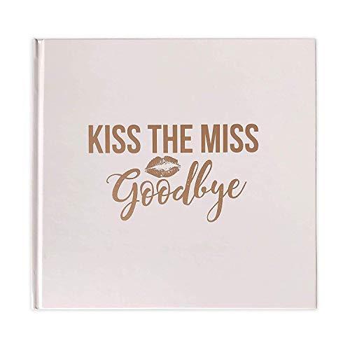 Kiss The Miss Goodbye - Bachelorette Party Notebook Scrapbook Keepsake...