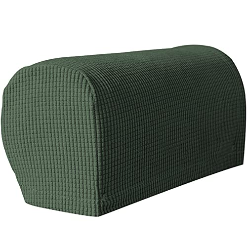 RRNAR Spandex Sofa armrest Covers for armchairs Sofa arm Covers armrest Protectors, Non-Slip Furniture Protector, Machine Washable, for Sofa Couch,Army Green,Regular