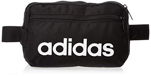 adidas Linear Core Sac banane sport, 39 cm, Black/Black/White