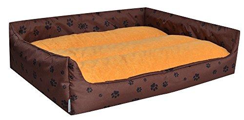 Cama para perros Perros cesta Aruba Plus marrón/amarillo M–70cm x 60cm w33402