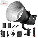 AMBITFUL FL80 80W 5600K Bowens Mount COB LED Video Light Daylight CRI96 + 5 Pre-Programmed TLCI 95+ Lighting with 2 x NP970 Batteries, Suitable for Outdoor Photography
